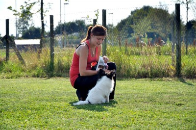 Emmelie och Pepzi på träning!
