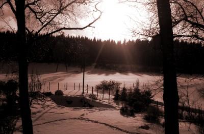 Snömassornas landskap...