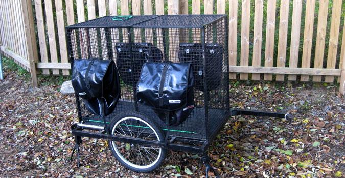 Cykelkärra för hund!